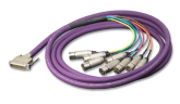 Switchcraft - DB25 Male to 8XLR Male Breakout Cable - 10/3m