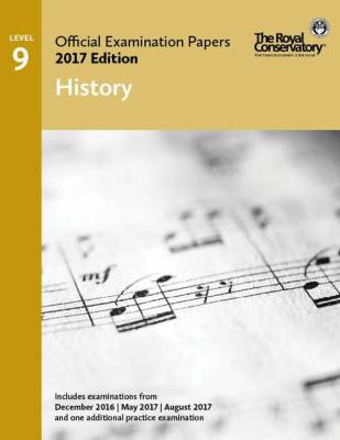 RCM Official Examination Papers: History, Level 9 - 2017 Edition - Book