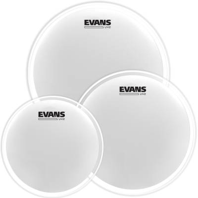UV2 Coated Drum Head Tom Pack (10,12,14) 2-Ply