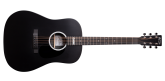 Martin Guitars - DX Johnny Cash Dreadnought HPL Acoustic-Electric Guitar - Jett Black