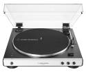 Audio-Technica - AT-LP60XBT Fully Automatic Bluetooth Belt-Drive Turntable - White
