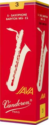 Java Red-Cut Baritone Sax Reeds - 3