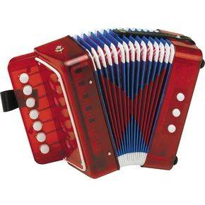 Childrens Button Accordion - Red