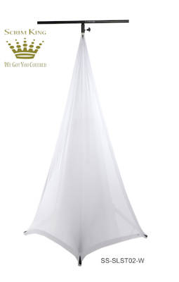 Lighting Stand Scrim - Double Side in White