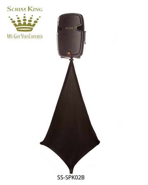 Scrim King Speaker Stand Scrim - Double Side In Black - Long u0026 McQuade Musical Instruments