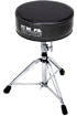 Pork Pie Percussion - Round Seat Drum Throne  - Black Sparkle/Vinyl Charcoal Top