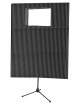 Auralex - MAX-Wall Portable Acoustic Treatment Kit with Window - Charcoal