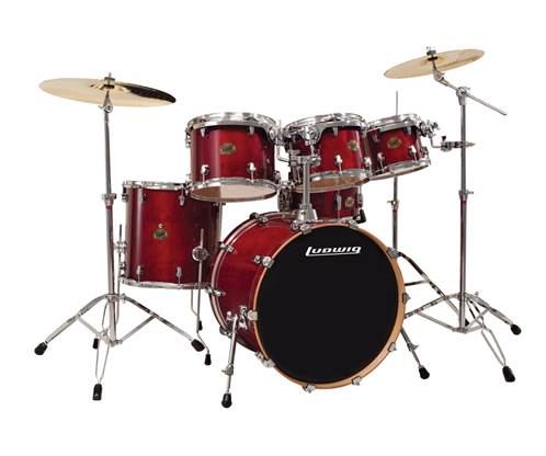 ludwig drums element power 6 piece drum kit deep red long mcquade musical instruments. Black Bedroom Furniture Sets. Home Design Ideas