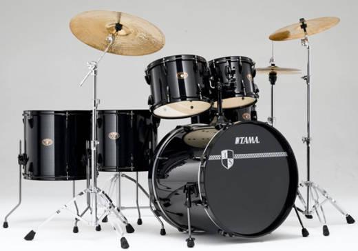 tama imperialstar 6 piece drum kit hairline black long mcquade musical instruments. Black Bedroom Furniture Sets. Home Design Ideas