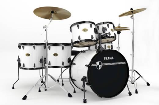 tama imperialstar 6 piece drum kit sugar white long mcquade musical instruments. Black Bedroom Furniture Sets. Home Design Ideas