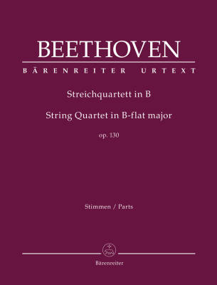 String Quartet In B-flat Major, Opus 130 - Beethoven/Del Mar - String Quartet - Parts Set