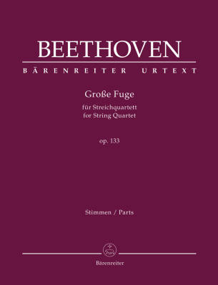 Grosse Fuge for String Quartet op. 133 - Beethoven/Del Mar - String Quartet - Parts Set