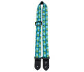 Perris Leathers Ltd - 1.5 Nylon Ukulele Strap w/ Pineapple Pattern - Teal