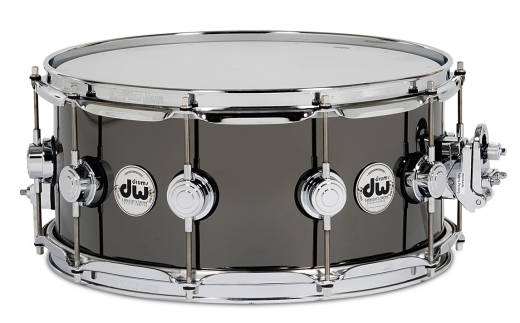 Black Nickel Over Brass Snare - 6.5x14