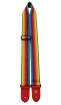 Perris Leathers Ltd - 2 Cotton Guitar Strap with Leather Ends - Rainbow