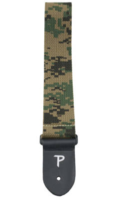 2'' Deluxe Cotton Guitar Strap - Digital Camo