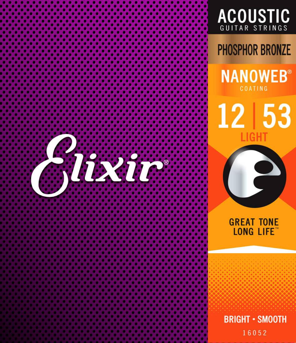 Elixir Strings Nanoweb Phosphor Bronze 12 53 Light