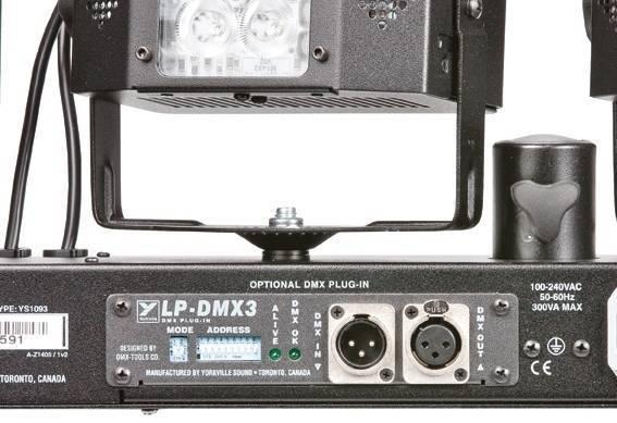 DMX Module for LP-LED4 System w/3-Pin XLRs
