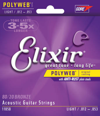 Poly Web 12-53 Light Acoustic Strings