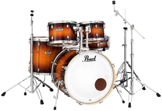 Export EXL 5-Piece Drum Kit (22, 10, 12, 14, SD) with Hardware - Gloss Tobacco Burst