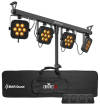 Chauvet DJ - 4BAR Quad Lighting System with Tripod, Bag and Footswitch