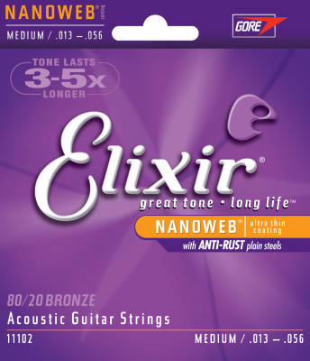 Nano Web 13-56 Medium Acoustic Strings