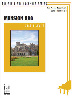 Mansion Rag - Levitt - Piano Duet (1 Piano, 4 Hands) - Sheet Music