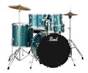 Pearl - Roadshow 5-Pc Drum Set (22,10,12,16,SD) with Hardware and Cymbals - Aqua Blue