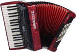 Hohner - Bravo III 72 Piano Accordion - Red