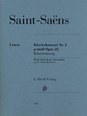 Piano Concerto no. 2 in g minor op. 22 - Saint-Saens/Jost - Piano/Piano Reduction (2 Pianos, 4 Hands) - Book
