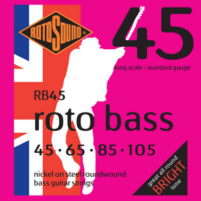 Nickel Unsilked Bass String Set - 45-105