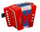 Carlton - Childrens Diatonic Button Accordion - Red