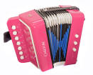 Carlton - Childrens Diatonic Button Accordion - Pink