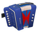 Carlton - Childrens Diatonic Button Accordion - Blue