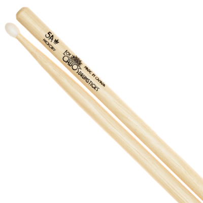 Nylon-Tipped Hickory 5A Drumstick  Made in Canada