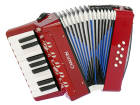 Carlton - Childrens Chromatic Piano Accordion - Red