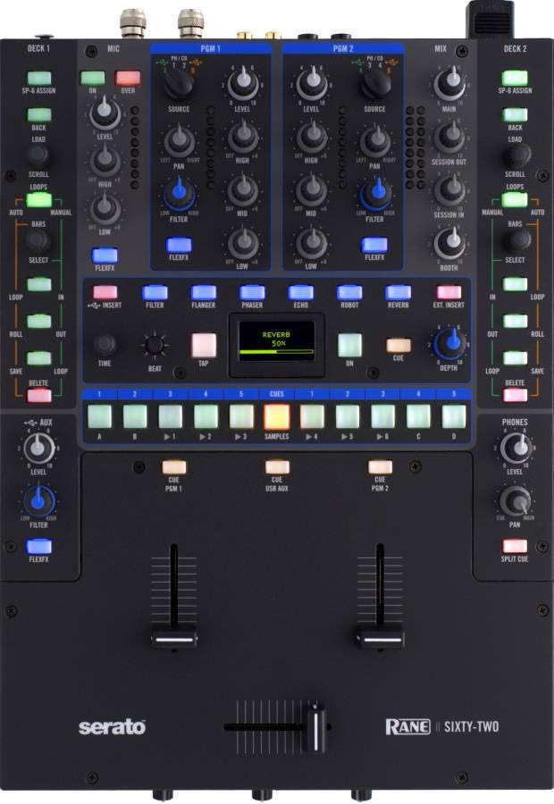 rane sixty two dj mixer for ssl long mcquade musical instruments. Black Bedroom Furniture Sets. Home Design Ideas