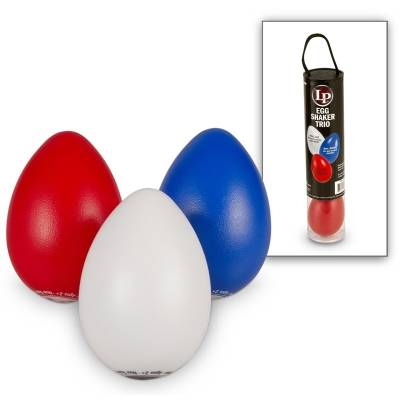 Egg Shaker Trio Red/White/Blue