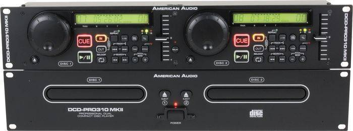 american audio american audio dual rackmount cd player long mcquade musical instruments. Black Bedroom Furniture Sets. Home Design Ideas