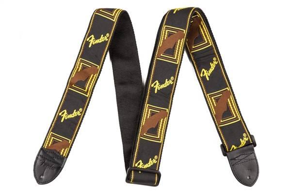 Fender fender monogram black yellow brown strap long mcquade