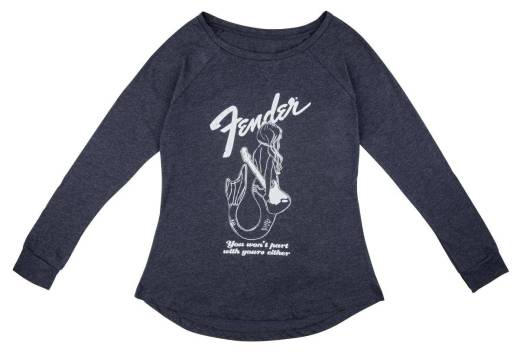 Fender - Mermaid Womens Long Sleeve T-Shirt, Navy - XXL