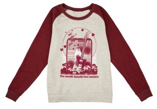 Fender - Womens Love Sweatshirt Oatmeal/Maroon - L