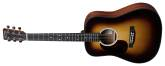 Martin Guitars - DJR-10E Dreadnought Junior Spruce/Sapele Acoustic/Electric Guitar - Left-Handed - Sunburst