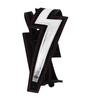 2.5'' Lightning Bolt Suede Guitar Strap