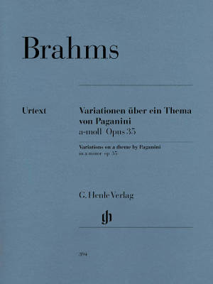 Paganini Variations op. 35 - Brahms/Kann - Piano - Book