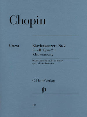 Piano Concerto no. 2 f minor op. 21 - Chopin /Zimmermann /Theopold - Piano/Piano Reduction (2 Pianos, 4 Hands) - Book