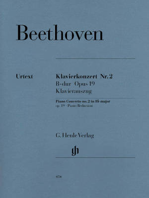 Piano Concerto no. 2 B flat major op. 19 - Beethoven/Kuthen/Kann - Piano/Piano Reduction (2 Pianos, 4 Hands) - Book