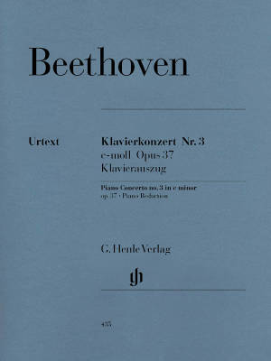 Piano Concerto no. 3 c minor op. 37 - Beethoven/Kuthen/Kann - Piano/Piano Reduction (2 Pianos, 4 Hands) - Book