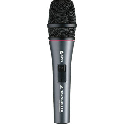E865 S Handheld Supercardioid Condenser Microphone with Noiseless On/Off Switch