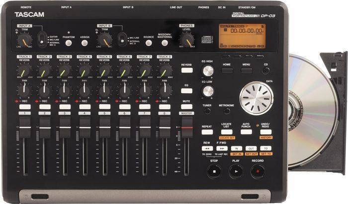 Tascam Compact 8 Track Sd Recorder W Cd Burner Amp Fx